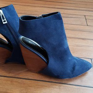 Bright Blue Charles by Charles David Booties